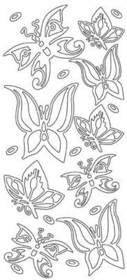 Butterfly Stickers in Black