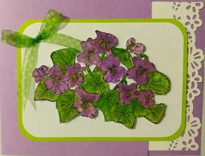 Violet Bouquet Mothers Day Card Kit