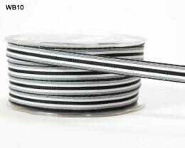 Black and White Ticking Ribbon