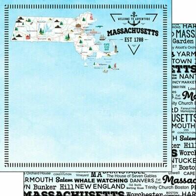 Massachusettes Postage Map