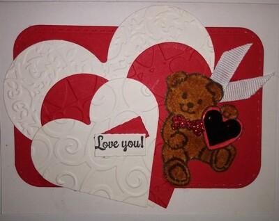 Teddy Bear Valentine Card Kit