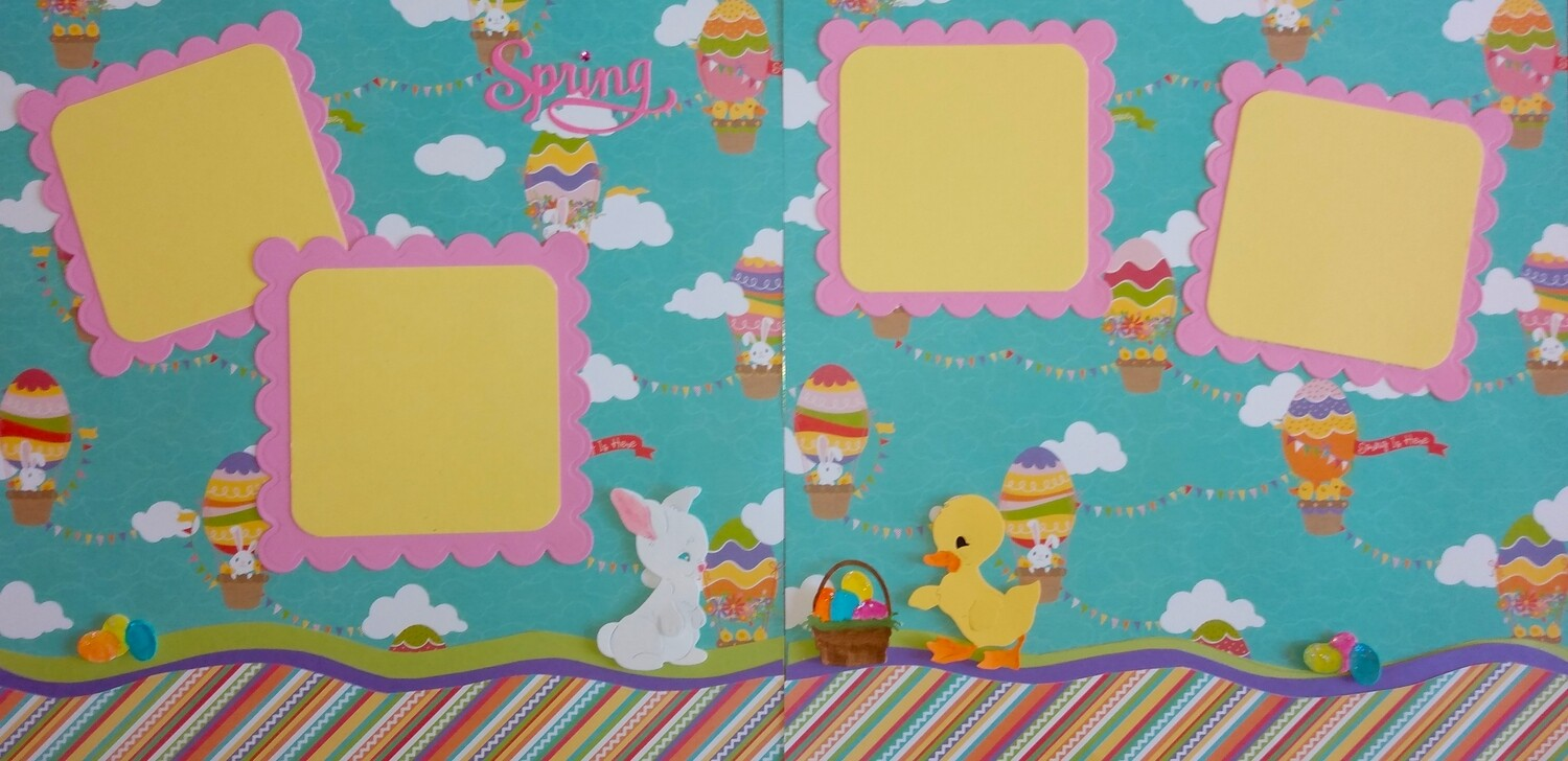 Spring Easter Two Page Layout