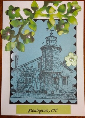 Spring Stonington Lighthouse Card Kit