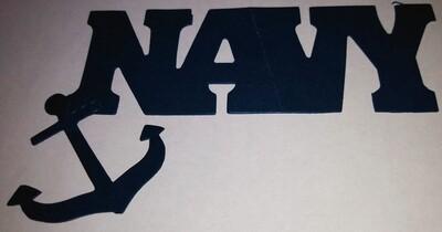 Navy Die Cut