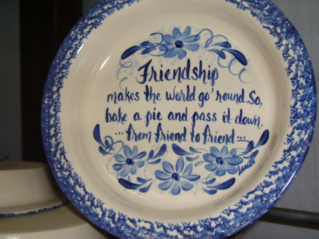 Frienship Pie Plate