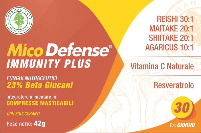 MICODEFENSE Immunity Plus Micoterapia 30 Cpr Masticabili