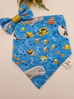 Happy ocean Bow tie