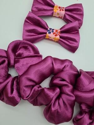 Pink sparkle scrunchie