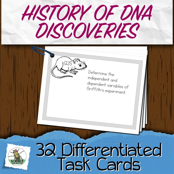 History of DNA Discoveries Task Cards