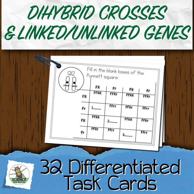 Dihybrid Cross and Linked & Unlinked Genes Task Cards