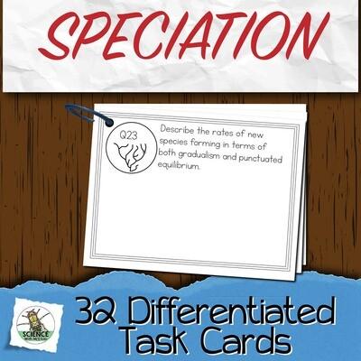Speciation Task Cards