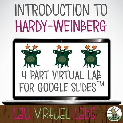 Virtual Alien Evolution Scenario made for Google Slides