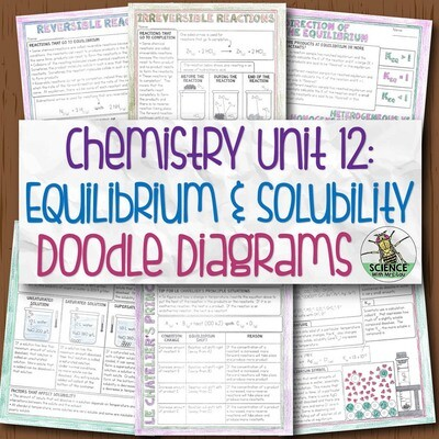 Chemistry Unit 12 Equilibrium and Solutions Doodle Diagrams