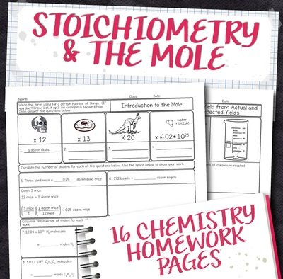Chemistry Unit 9: Stoichiometry Homework Pages