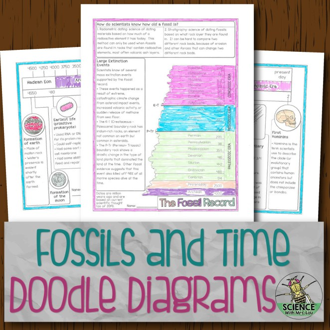 Fossil Record and Geologic Time Doodle Diagrams