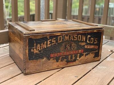 Antique Box, Vintage Storage Box, Collectible Antique