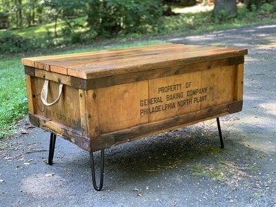 Rustic Coffee Table, Trunk Table, Reclaimed Wood Table