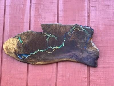 Live Edge Wood Wall Art, Black Walnut, Rustic Decor