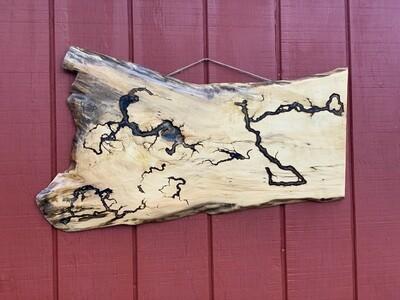 Mantle Decor, Vintage Wall Art, Live Edge Wood, Box Elder