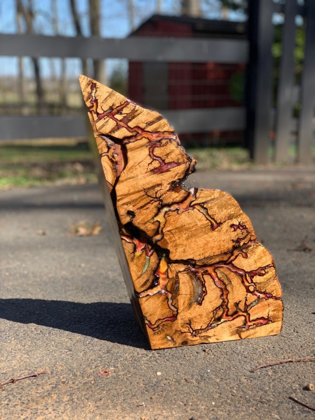 Wood Sculpture, Mantle Decor, Live Edge Wood, Mantle Art