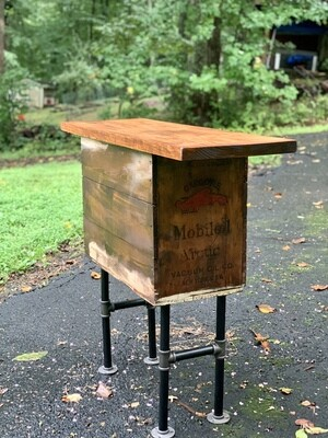 Rustic Console Table, Mobile Box, Reclaimed Wood