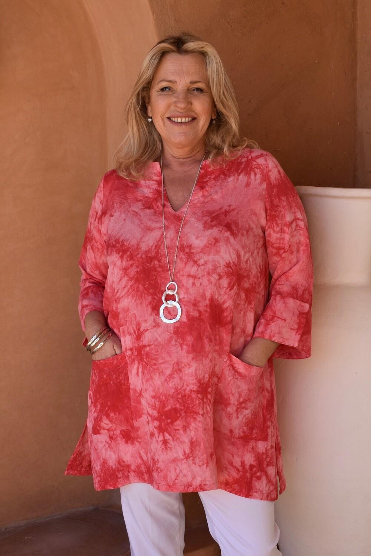 KASBAH Trevia - Tie-Dye kaftan style tunic top
