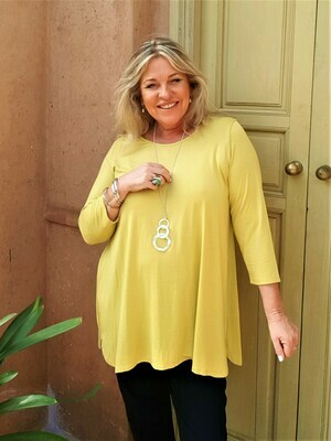 KASBAH Tessina - Anise Jersey 3/4 sleeve T-Shirt