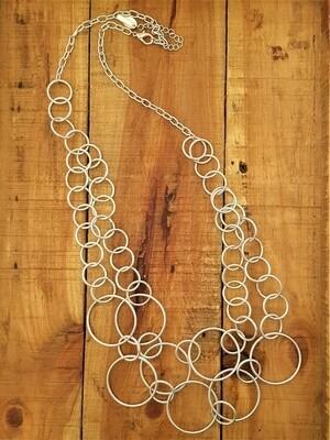Kasbah Nadia long circle design necklace