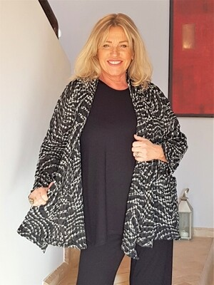 KASBAH Janine - Swirl Swing Jacket