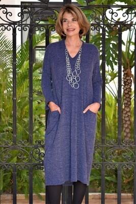 KASBAH Rene Dress - Cosy V neck bubble dress