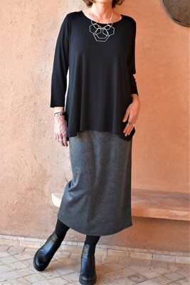 KASBAH Sheena- Snake Print Faux leather Skirt