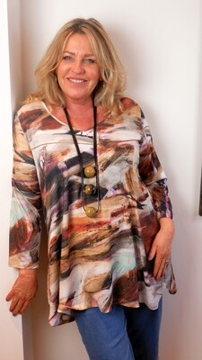 KASBAH Tinsley - Abstract Print top