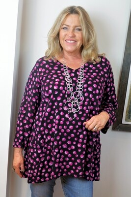 Kasbah Tosca - Spot print A-line tunic with pockets