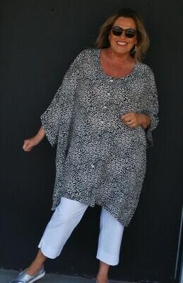 Kasbah Tarana - wide-cut one size jacket/ top