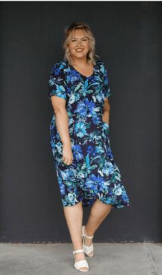 KASBAH Ramona - Printed Tulip Cut Dress