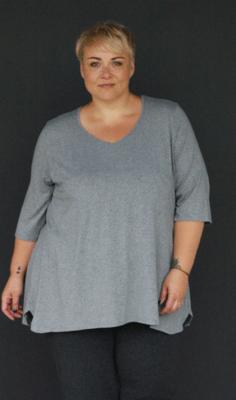 KASBAH Tessia - Grey Marl Jersey T-Shirt