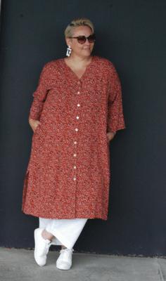 KASBAH Jacinda - Printed tunic/jacket - Burnt Orange