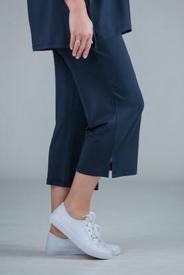 KASBAH Payton - Jersey crop trousers navy