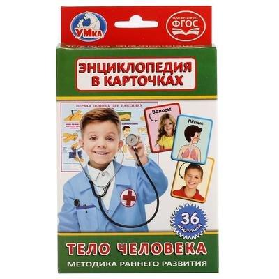КАРТОЧКИ РАЗВИВАЮЩИЕ ТЕЛО ЧЕЛОВЕКА 36 КАРТОЧЕК УМКА 144183
