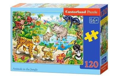 Пазл Castorland Животные в джунглях 120 деталей B-13173