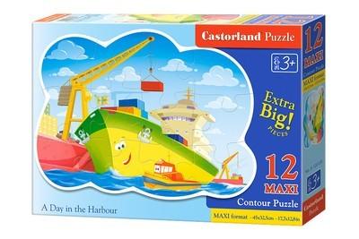 Пазл Castorland Maxi День в гавани 12 деталей B-120130