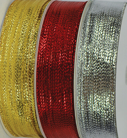SHIM40SILVER - #40 Silver wired shimmer ribbon (Silver Only)