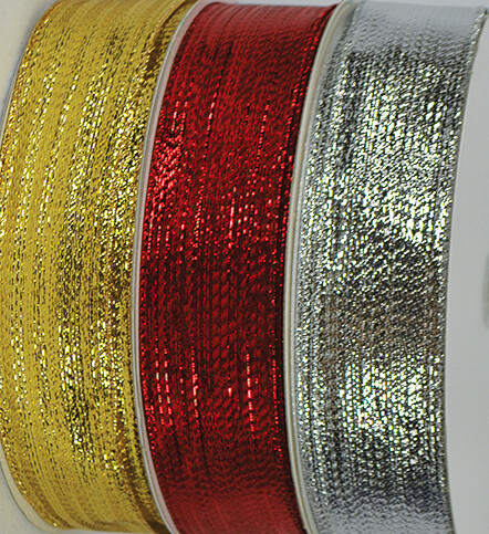 SHIM9SILVER - #9 Wired Shimmer Ribbon (Silver Only)