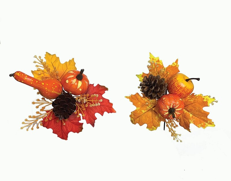 XPF1017ASST - 2 Assorted style cone / gourd Mix fall picK