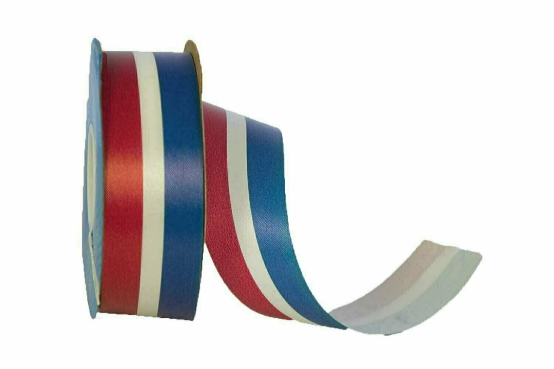 DK9RWB - #9 Unwired RWB Patriotic Ribbon 50 Yards