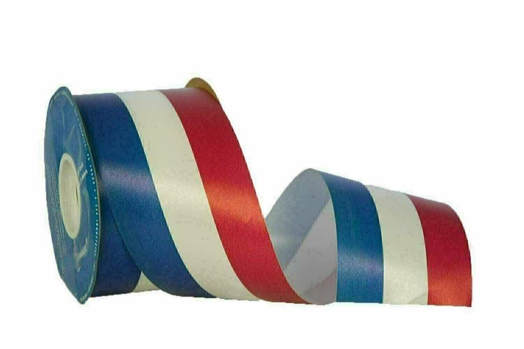 DK40RWB - #40 Unwired RWB Patriotic Ribbon 50 Yards