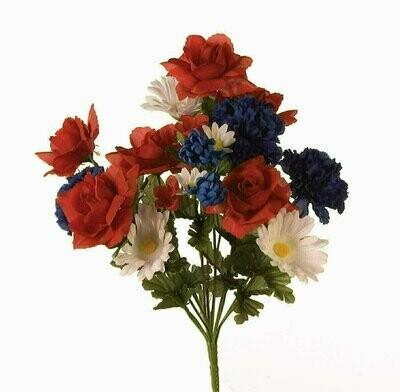 SB7021RWB - RWB Rose / Carnation / Gerber Mix x14 $3.25 each