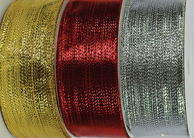 SHIM40GOLD - #40 Gold wired shimmer ribbon (Gold Only)
