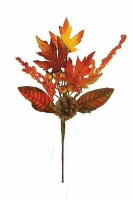  SBF2036ASST - 2 Assorted Mix Fall Pick With Pod and Cones