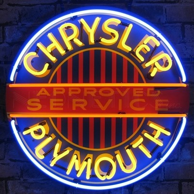 Chysler Plymouth Neon Sign